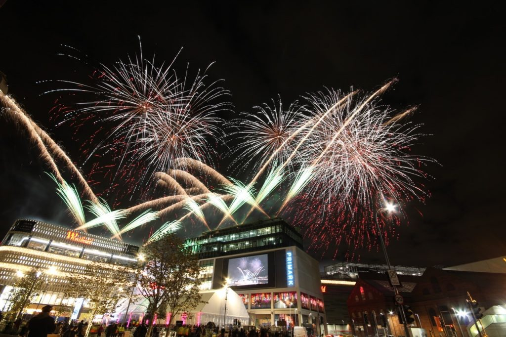 Phoenix Fireworks Westfield London 10th Anniversary