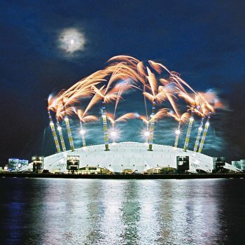 London o2 Dome Fireworks