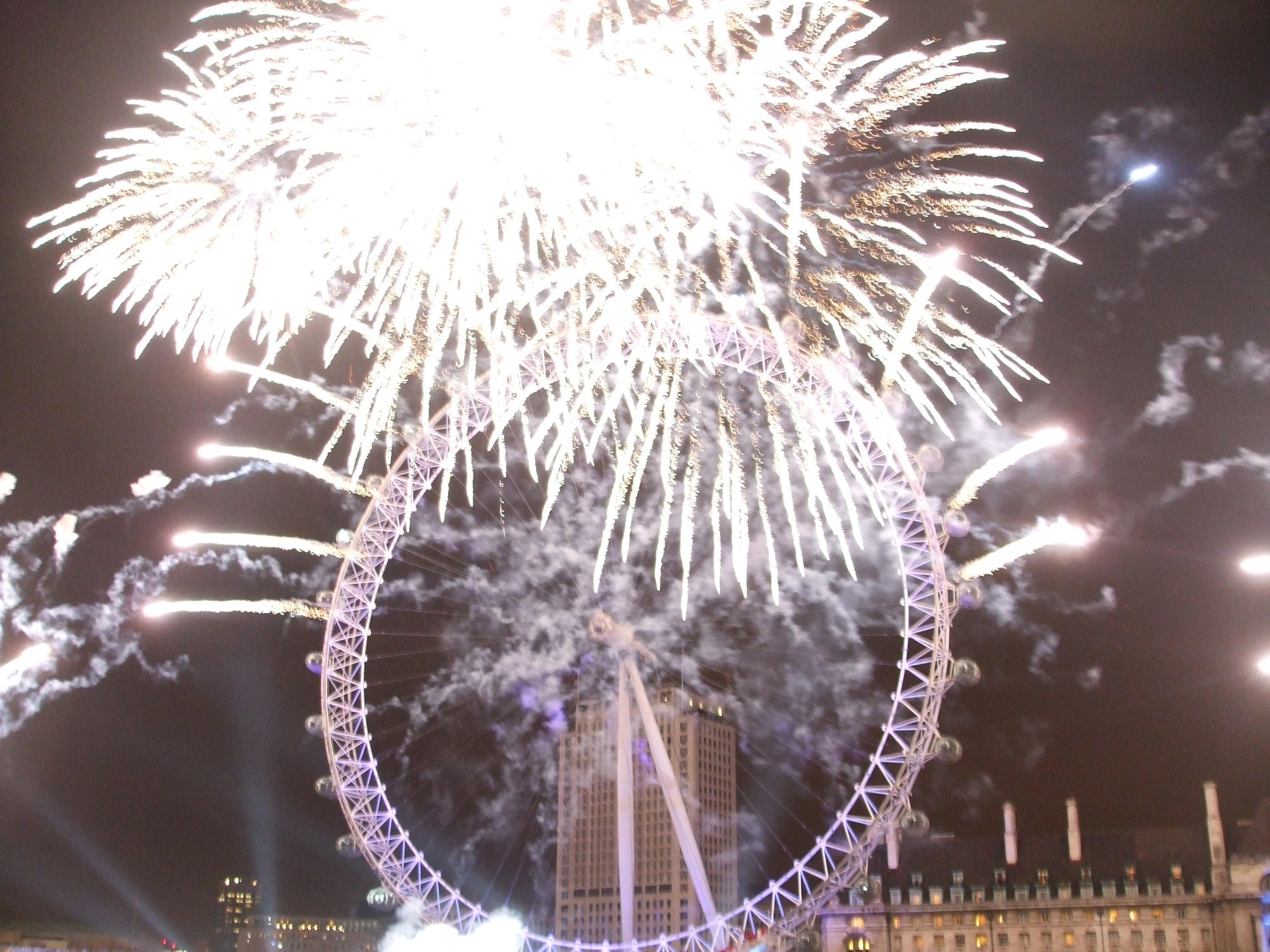 London Eye New Years Eve Fireworks