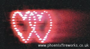 Double Hearts (RED) Consumer Fireworks Lancework