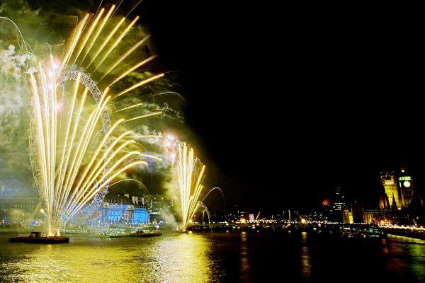 London Eye New Years Eve Fireworks