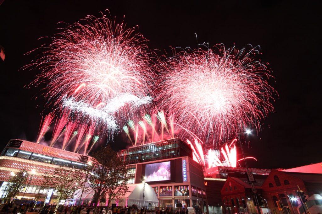 Phoenix Fireworks Westfield London 10th Anniversary